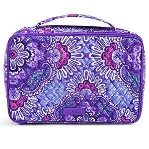 Vera Bradley makeup bag Lilac Talestry NWOT